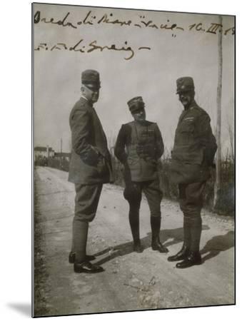 Emanuele Filiberto of Savoy-Aosta with General Paolini in Breda Di Piave--Mounted Giclee Print