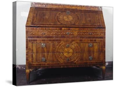Maggiolini-Inspired Lombardian Neoclassical Style Drop Leaf Writing Desk--Stretched Canvas Print