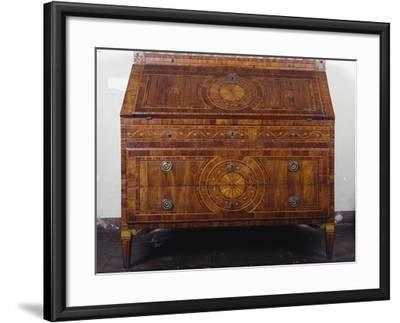 Maggiolini-Inspired Lombardian Neoclassical Style Drop Leaf Writing Desk--Framed Giclee Print