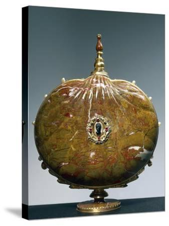 Flask Once Belonging to Catherine De Medici with Medallion Depicting Moor's Head--Stretched Canvas Print