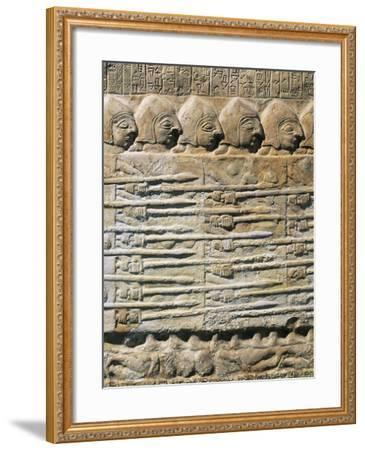 Detail of Stele of Vultures Depicting Troops of King Eannatum Conquering Umma--Framed Giclee Print