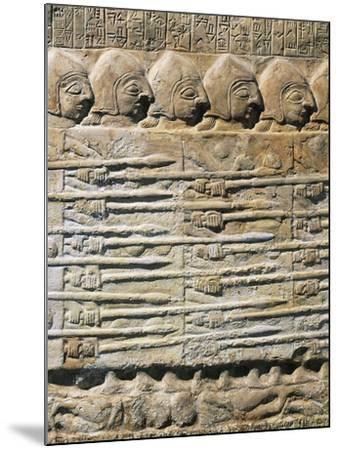 Detail of Stele of Vultures Depicting Troops of King Eannatum Conquering Umma--Mounted Giclee Print