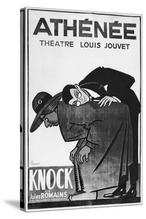 Poster Advertising a Performance of 'Knock or the Triumph of Medicine'-Bernard Becan-Stretched Canvas Print