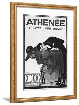 Poster Advertising a Performance of 'Knock or the Triumph of Medicine'-Bernard Becan-Framed Giclee Print