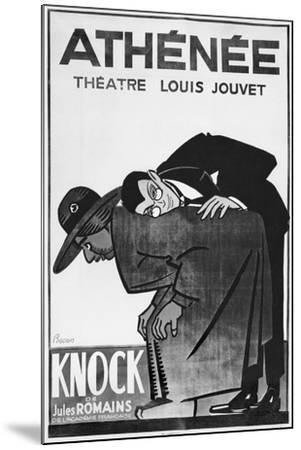 Poster Advertising a Performance of 'Knock or the Triumph of Medicine'-Bernard Becan-Mounted Giclee Print