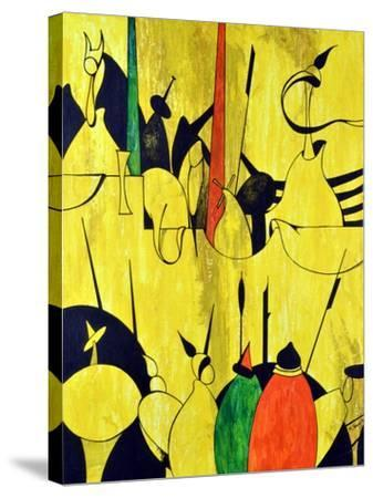 Yellow-Vaan Manoukian-Stretched Canvas Print