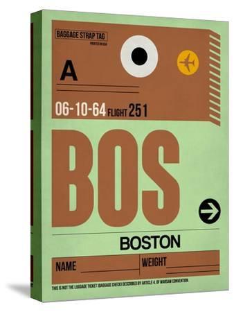 BOS Boston Luggage Tag 1-NaxArt-Stretched Canvas Print
