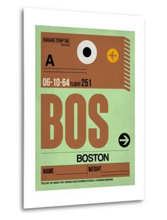 BOS Boston Luggage Tag 1-NaxArt-Metal Print