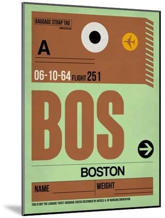 BOS Boston Luggage Tag 1-NaxArt-Mounted Art Print
