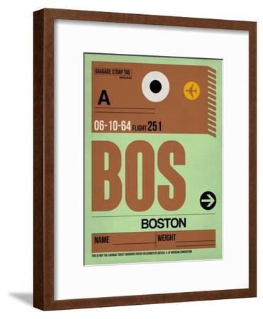 BOS Boston Luggage Tag 1-NaxArt-Framed Art Print