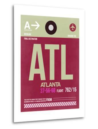 ATL Atlanta Luggage Tag 2-NaxArt-Metal Print