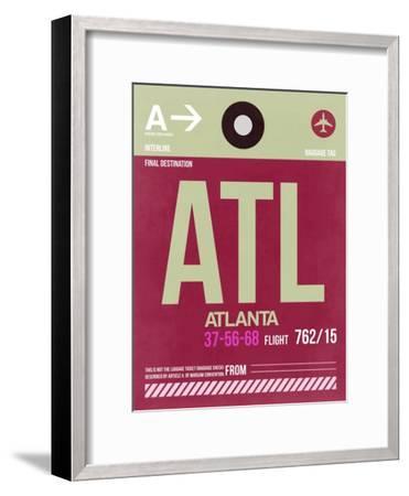 ATL Atlanta Luggage Tag 2-NaxArt-Framed Art Print