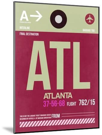 ATL Atlanta Luggage Tag 2-NaxArt-Mounted Art Print