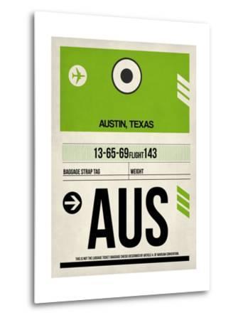 AUS Austin Luggage Tag 1-NaxArt-Metal Print
