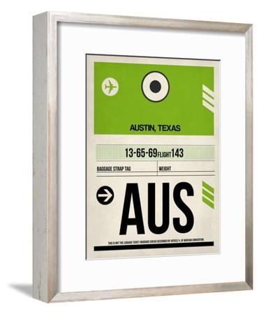 AUS Austin Luggage Tag 1-NaxArt-Framed Art Print