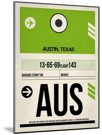 AUS Austin Luggage Tag 1-NaxArt-Mounted Art Print