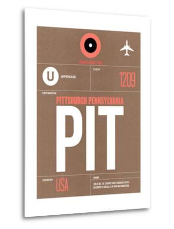 PIT Pittsburgh Luggage Tag 2-NaxArt-Metal Print