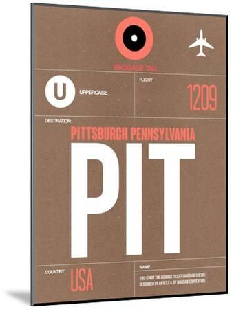 PIT Pittsburgh Luggage Tag 2-NaxArt-Mounted Art Print