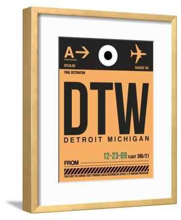 DTW Detroit Luggage Tag 1-NaxArt-Framed Art Print