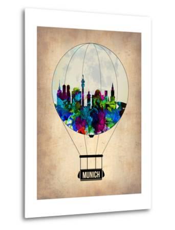 Munich Air Balloon-NaxArt-Metal Print