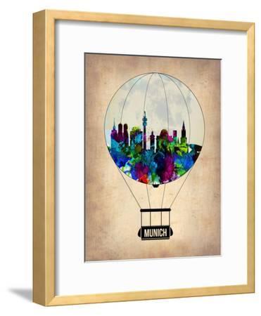 Munich Air Balloon-NaxArt-Framed Art Print