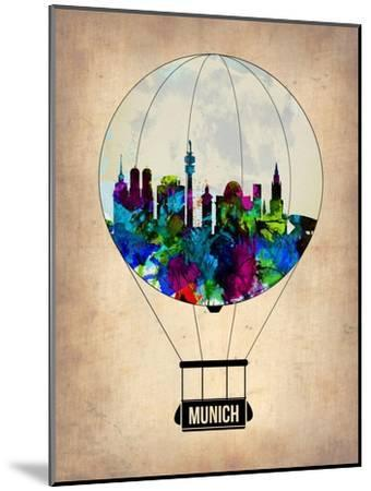 Munich Air Balloon-NaxArt-Mounted Art Print