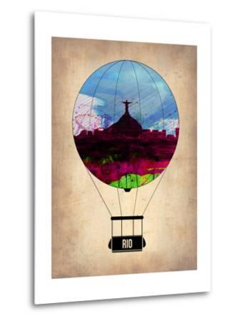 Rio Air Balloon-NaxArt-Metal Print