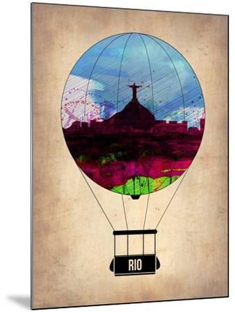 Rio Air Balloon-NaxArt-Mounted Art Print