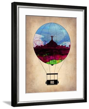 Rio Air Balloon-NaxArt-Framed Art Print