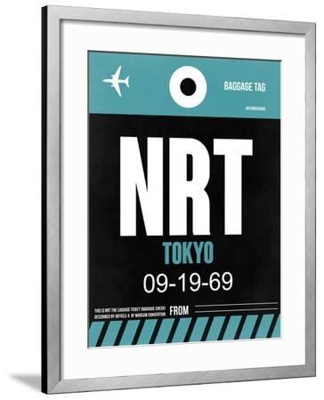 NRT Tokyo Luggage Tag 2-NaxArt-Framed Art Print
