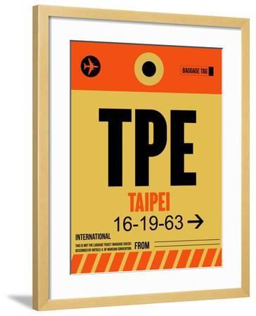 TPE Taipei Luggage Tag 2-NaxArt-Framed Art Print