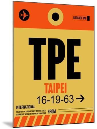 TPE Taipei Luggage Tag 2-NaxArt-Mounted Art Print