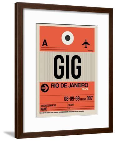 GIG Rio De Janeiro Luggage Tag 2-NaxArt-Framed Art Print