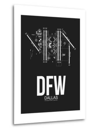 DFW Dallas Airport Black-NaxArt-Metal Print