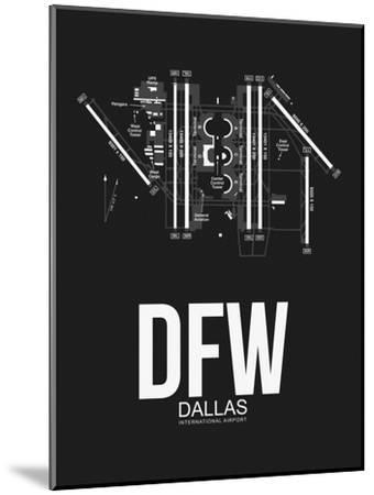 DFW Dallas Airport Black-NaxArt-Mounted Art Print