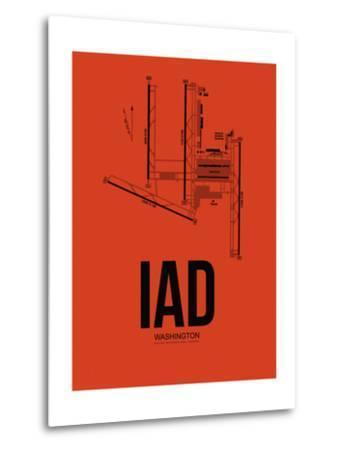 IAD Washington Airport Orange-NaxArt-Metal Print