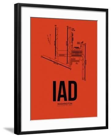 IAD Washington Airport Orange-NaxArt-Framed Art Print
