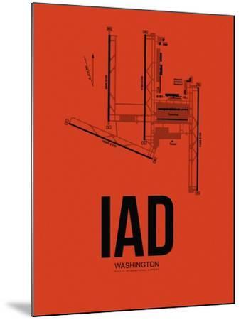 IAD Washington Airport Orange-NaxArt-Mounted Art Print