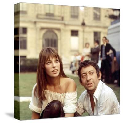 Jane Birkin and Serge Gainsbourg--Stretched Canvas Print