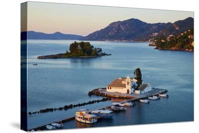 Vlacherna Monastery, Kanoni, Corfu, Ionian Islands, Greek Islands, Greece, Europe-Tuul-Stretched Canvas Print