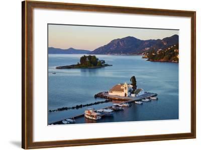 Vlacherna Monastery, Kanoni, Corfu, Ionian Islands, Greek Islands, Greece, Europe-Tuul-Framed Photographic Print