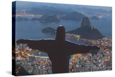Statue of Christ the Redeemer, Corcovado, Rio De Janeiro, Brazil, South America-Angelo-Stretched Canvas Print