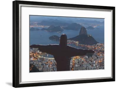 Statue of Christ the Redeemer, Corcovado, Rio De Janeiro, Brazil, South America-Angelo-Framed Photographic Print