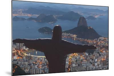 Statue of Christ the Redeemer, Corcovado, Rio De Janeiro, Brazil, South America-Angelo-Mounted Photographic Print