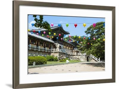 Bulguksa Temple, Gyeongju, UNESCO World Heritage Site, South Korea, Asia-Michael-Framed Photographic Print