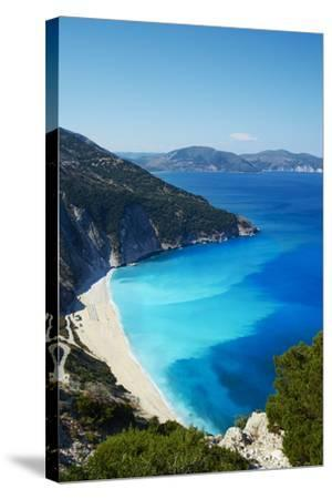 Myrtos Beach, Cephalonia, Ionian Islands, Greek Islands, Greece, Europe-Tuul-Stretched Canvas Print