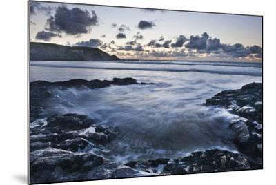 Rocky Coast at Treyarnon Bay at Sunset, Cornwall, England, United Kingdom, Europe-Matthew-Mounted Photographic Print