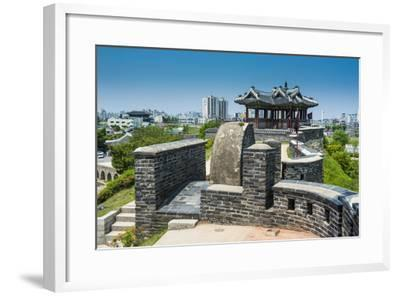 Huge Stone Walls around the Fortress of Suwon, UNESCO World Heritage Site, South Korea, Asia-Michael-Framed Photographic Print
