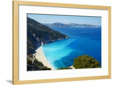 Myrtos Beach, Cephalonia, Ionian Islands, Greek Islands, Greece, Europe-Tuul-Framed Photographic Print