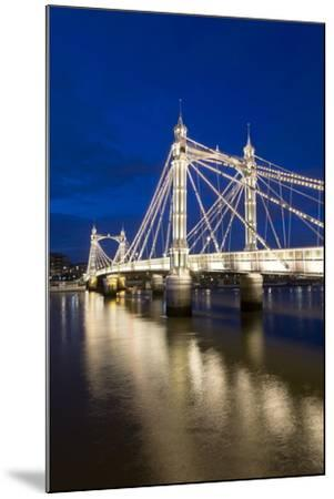 Albert Bridge and River Thames at Night, Chelsea, London, England, United Kingdom, Europe-Stuart-Mounted Photographic Print